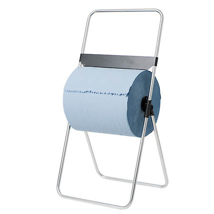 Industrial Steel Stand Alone Toilet Paper Dispenser Equipped With Serrated Cutting Edge