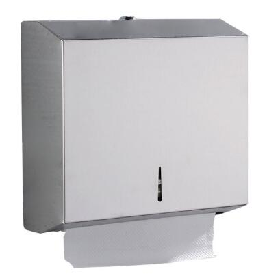 Stainless Steel Wall Mounted Towel Dispenser Lockable For Office Building